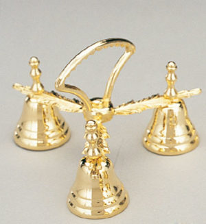 brass three chime bells