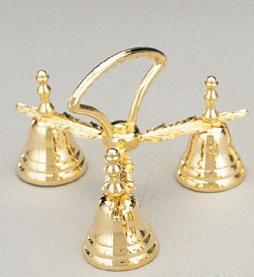 brass three chime bells
